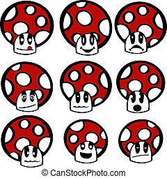 きのこ, emoticons