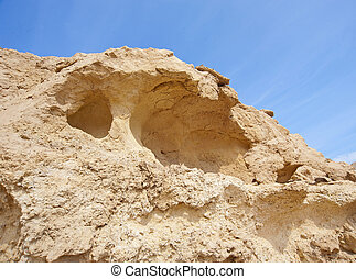 Sandstone rock formations in the desert