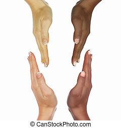 human hands as symbol of ethnical diversity - picture of...