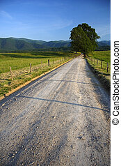 Cades Cove - Scenic Road through Cades Cove, Great Smokey...