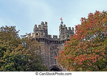 Lancaster castle gates - Gates of the Lancaster city castle...