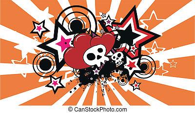 skull cartoon background4