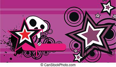 skull cartoon background5