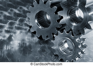 titanium and steel engineering - large gear whees of...
