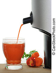 Freshly Squeezed Vegetable Juice - A glass of freshly...