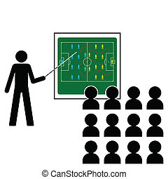 tactics team talk - Football Manager giving pre match...