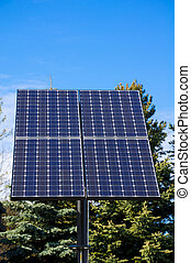 Green technology, solar panels for electricity production