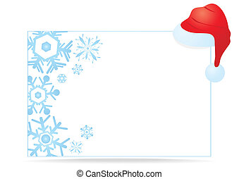 Christmas card - Vector illustration of a white Christmas...