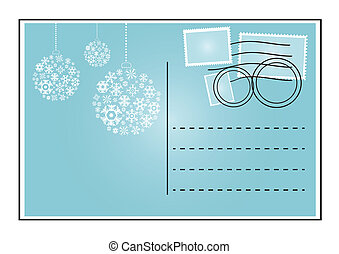 blue envelope - Vector illustration of blue envelope with...