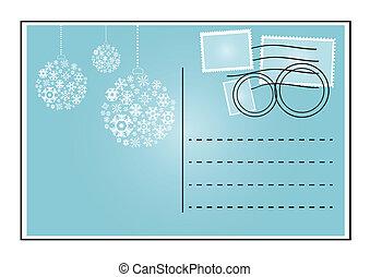 blue envelope - Vector illustration of blue envelope with...