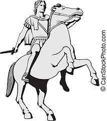 Alexander the Great - Illustration of Alexander the Great...