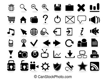 vector-web-icon-set- - Vector illustration of web icons easy...