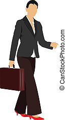 Business woman. Vector illustratio