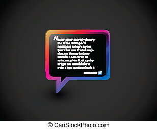 speech icon - Testimonial glossy speech icon for web...