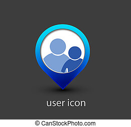 user web icon - 3d vector user web icon design element.