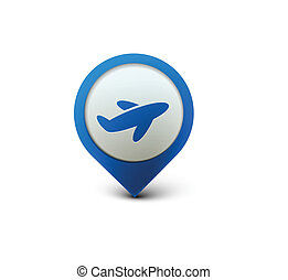 travel web icon - vector glossy travel web icon design...
