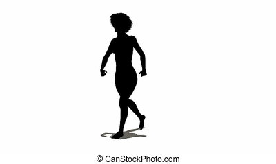 loop sexy woman silhouette