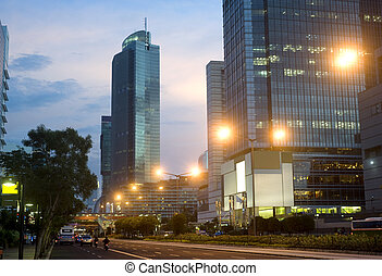 Jakarta Central at beautiful sunset Indonesia