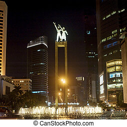 Welcome statue in Jakarta - The bronze welcome statues...