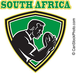 rugby player South Africa - illustration of a rugby player...
