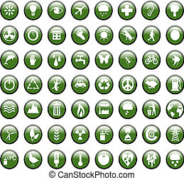 Environmental Green Icons - Set of lots of enviroment...