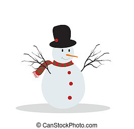 Cute illustration of a snowman