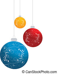 Ornamented Christmas balls