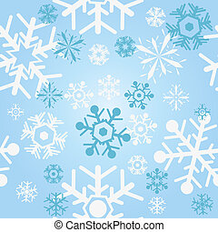 snowflakes background - Vector illustration of seamless...