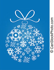 decor - Vector illustration of x-mas ball made of snowflakes...