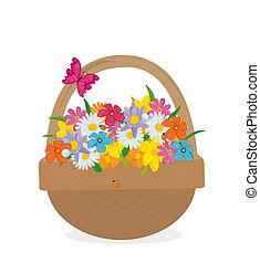 flower in basket
