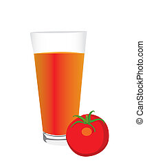 tomato and a glass of tomato juice