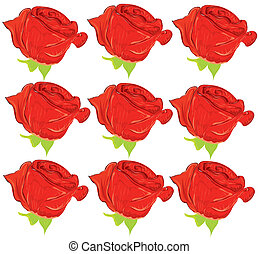 Seamless background with flower roses. Could be used as...