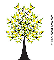 abstract detailed eco tree vector illustration