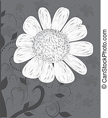 vector flower background...