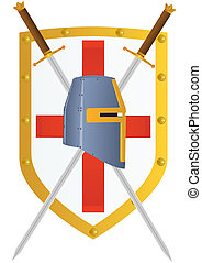 Sword and Shield - Two knights of the sword and helmet...