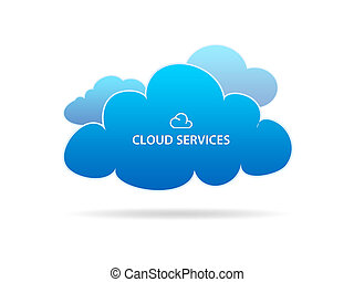 Cloud Services - High resolution graphic of several...