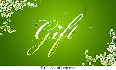 Green Gift Card - High resolution promotional gift...