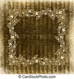 Grunge vintage background with floral antique ornament