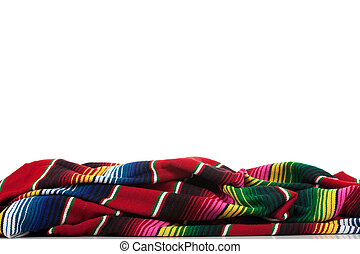 Serape on a white background with copy space - Mexican...