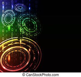 glowing abstract background