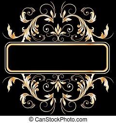 vintage frame - vintage stylized floral frame