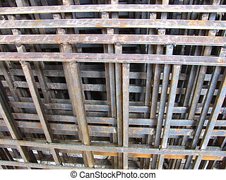 pile of iron grills - Image of pile of iron grills used for...