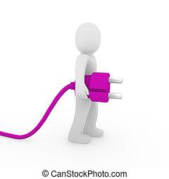 3d man purple plug