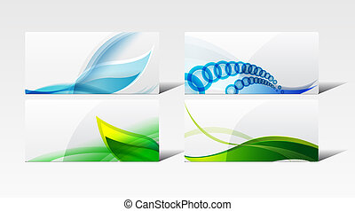 A set of abstract backgrounds. Style of business card