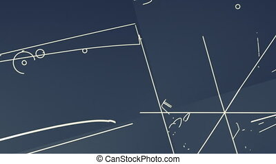 Aircraft Blueprint Smooth Pan, Zoom - Animation showing a...