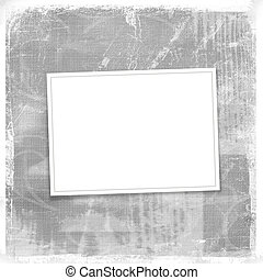 Grey card for greeting in style retro