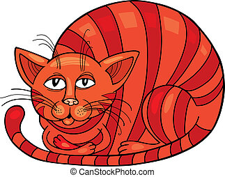 Red Cat - Cartoon illustration of Red Cat