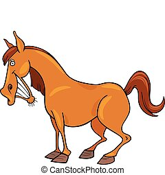 Cartoon Horse - Cartoon illustration of funny horse