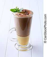 Liqueur coffee - Coffee drink with a shot of eggnog