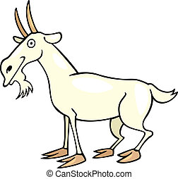 goat - Cartoon illustration of farm goat